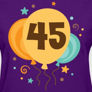 45th Birthday Balloons Party Women's T-Shirts - Women's T-Shirt
