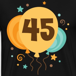 45th Birthday Balloons Party T-Shirts - Men's Premium T-Shirt