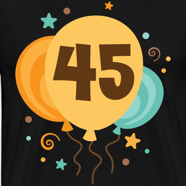 45th Birthday Balloons Party Mens T Shirt
