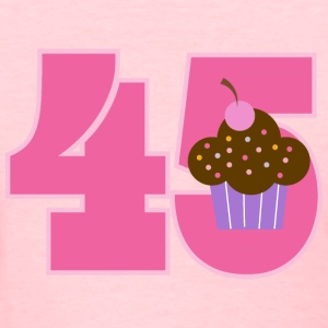 45th Birthday Cupcake Women's T-Shirts - Women's T-Shirt