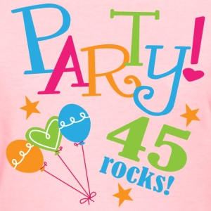 45th Birthday Party 45 Rocks Women's T-Shirts - Women's T-Shirt