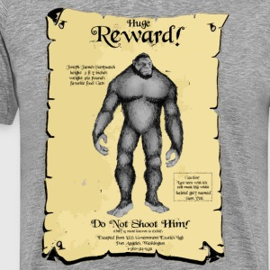 Poster:  SASQUATCH Wanted! T-Shirts - Men's Premium T-Shirt