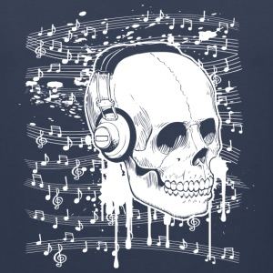 Skull Music design Tank Tops - Men's Premium Tank