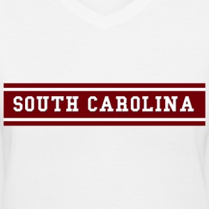 South Carolina Stripe Women's T-Shirts - Women's V-Neck T-Shirt