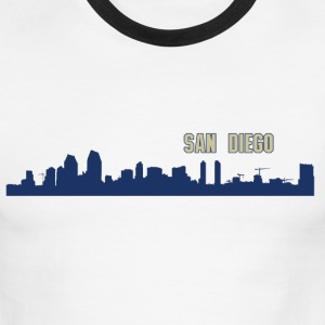 San Diego Skyline T-Shirts - Men's Ringer T-Shirt