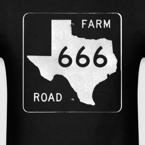 Classic TEXAS FARM ROAD 666 Black T-Shirt - Men's T-Shirt