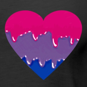 bisexual pride heart tank - Women's Premium Tank Top
