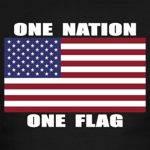 ONE NATION ONE FLAG Mens Ringer T-shirt - Men's Ringer T-Shirt