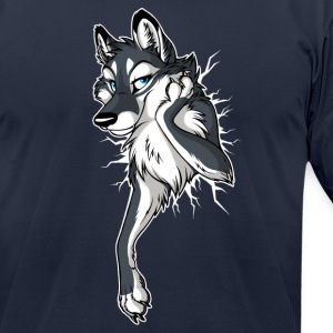 STUCK Wolf Black (2-sided) - Men's T-Shirt by American Apparel