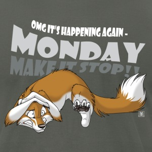 Monday - Make it stop! - Men's T-Shirt by American Apparel