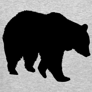 Bear - Grizzly Long Sleeve Shirts - Crewneck Sweatshirt