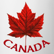 Design ~ Canada Souvenir Cups Red Canada Maple Leaf Mugs