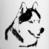 Design ~ HUsky Cups Sled Dog Mugs Siberian Husky Coffee Cups