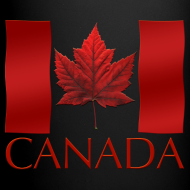 Design ~ Canada Flag Cups Souvenir Mugs Red Canada Flag Coffee Cups