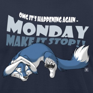 Monday - Make it stop! (blue) - Men's T-Shirt by American Apparel
