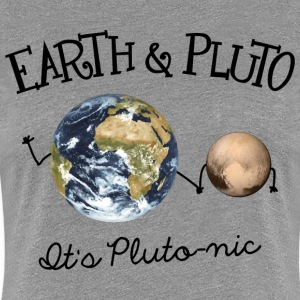 Earth and Pluto - It's Plutonic - Women's Premium T-Shirt