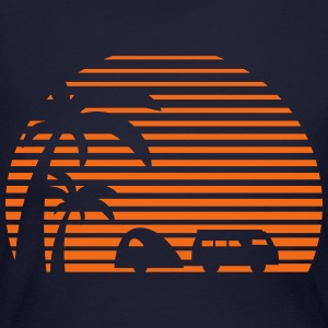 camper sun bus surfing beach sunset camping palms Long Sleeve Shirts - Women's Long Sleeve Jersey T-Shirt