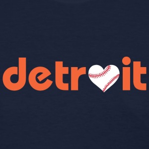 Detroit Baseball Love Women's T-Shirts - Women's T-Shirt
