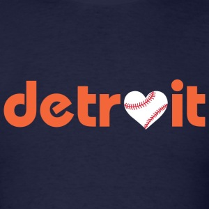 Detroit Baseball Love T-Shirts - Men's T-Shirt
