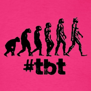 Throwback thursday tbt evolution hashtag Shirt - Men's T-Shirt