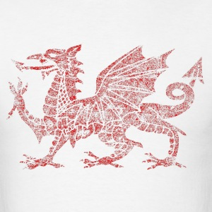 Gritty Welsh dragon symbol of Wales Shirt - Men's T-Shirt