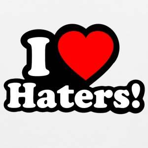 I LOVE HATERS Tank Tops - Men's Premium Tank