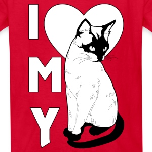 I Love My Cat Kids T-Shirt - Kids' T-Shirt