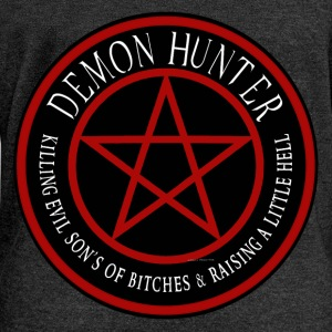 Demon Hunter  Killing evil son bitches raising a l Long Sleeve Shirts - Women's Wideneck Sweatshirt
