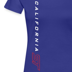 White/Red on Blue T-shirt - Women's Premium T-Shirt