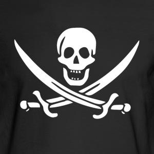 Pirate Flag - Jolly Roger - Men's Long Sleeve T-Shirt