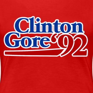 Retro 90s clinton gore 1992 - Women's Premium T-Shirt
