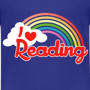 retro rainbow I love reading - Toddler Premium T-Shirt