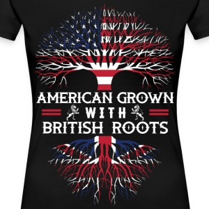 American Grown with British Roots - Women's Premium T-Shirt