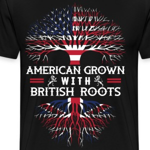 American Grown with British Roots - Men's Premium T-Shirt