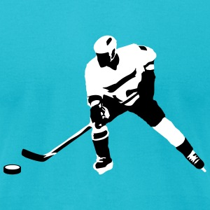 Ice hockey player T-Shirts - Men's T-Shirt by American Apparel