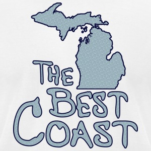 Michigan The Best Coast T-Shirts - Men's T-Shirt by American Apparel