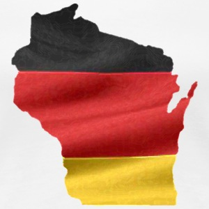 Germany German Wisconsin Flag Women's T-Shirts - Women's Premium T-Shirt
