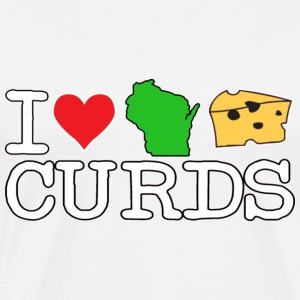 I Love Heart Wisconsin Cheese Curds T-Shirts - Men's Premium T-Shirt