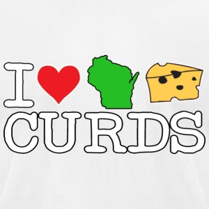 I Love Heart Wisconsin Cheese Curds T-Shirts - Men's T-Shirt by American Apparel