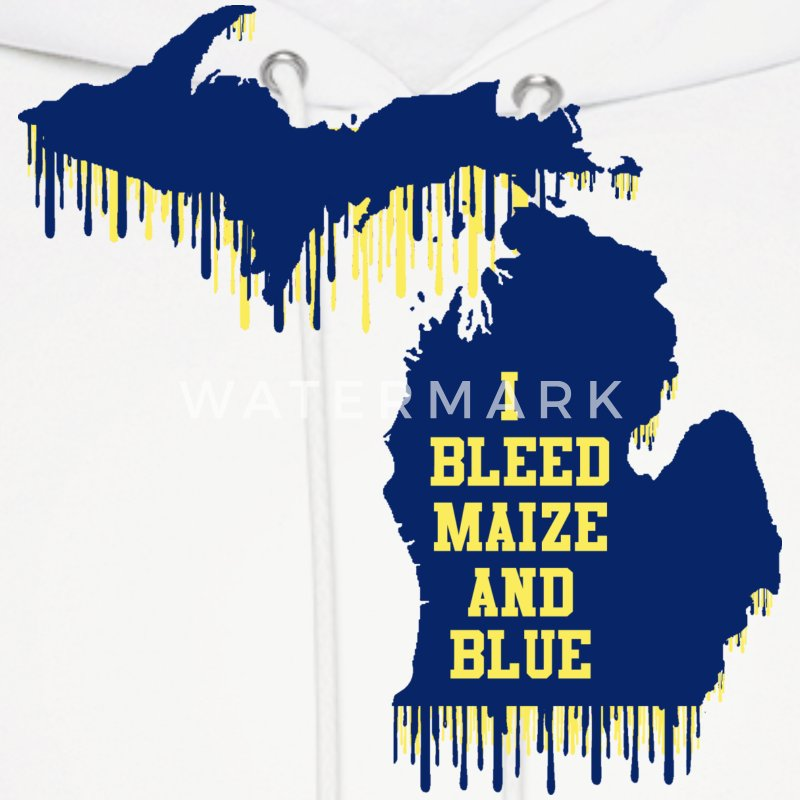 Michigan Bleed Maize And Blue Hoodie Spreadshirt