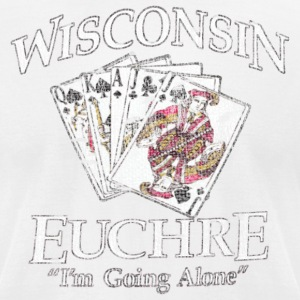 Wisconsin Euchre Cards T-Shirts - Men's T-Shirt by American Apparel