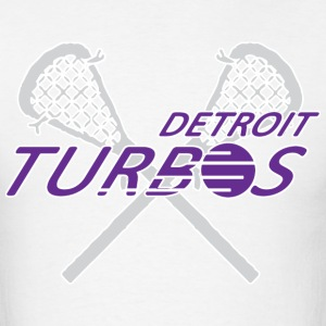Detroit Turbos Old School Lacrosse T-Shirts - Men's T-Shirt