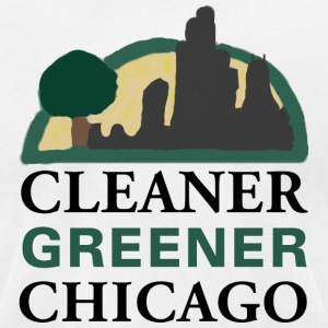 Cleaner Greener Chicago T-Shirts - Men's T-Shirt by American Apparel