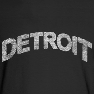 Distressed Detroit Arch Long Sleeve Shirts - Men's Long Sleeve T-Shirt