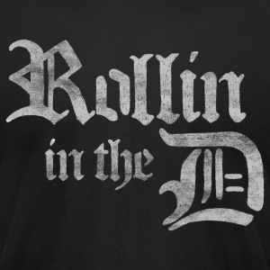 Rollin' in the D Detroit 313 T-Shirts - Men's T-Shirt by American Apparel