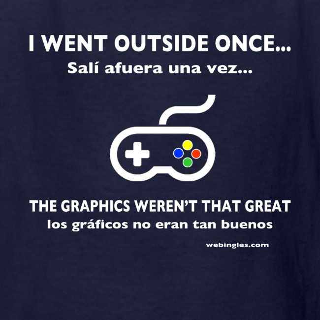 Videojugador sale afuera, Gamer goes outside