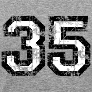 Number 35 Thirty Five 35th Birthday T-Shirt (Men) - Men's Premium T-Shirt