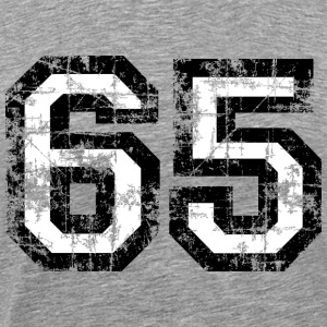 Number 65 Sixty Five 65th Birthday T-Shirt (Men) - Men's Premium T-Shirt