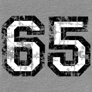 Number 65 Sixty Five 65th Birthday T-Shirt (Women) - Women's Premium T-Shirt