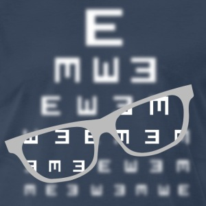Vision screening with glasses white Shirt - Men's Premium T-Shirt